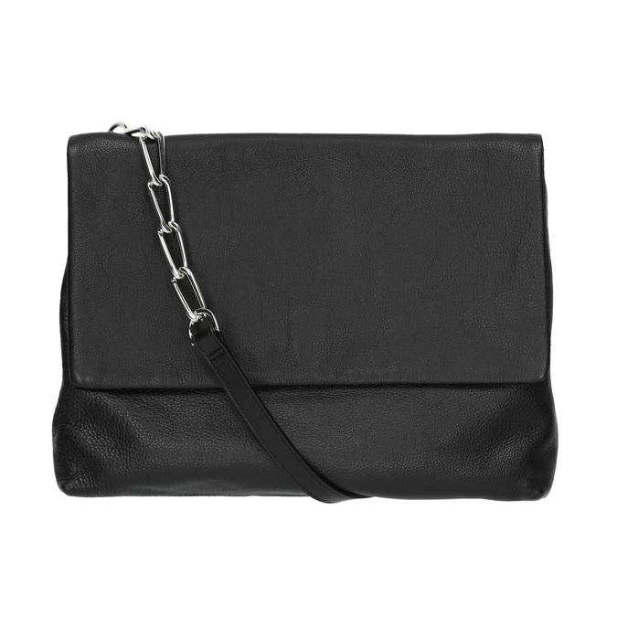 Menší kožená kabelka s řetízkem vagabond, černá, 964-6005 - 26