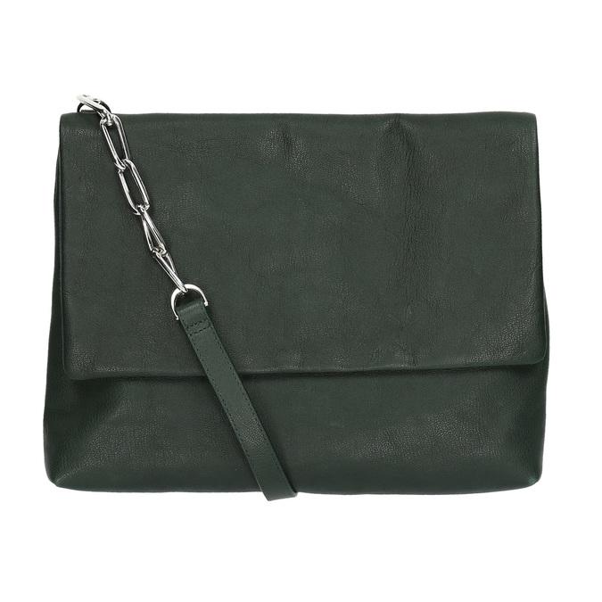 Menší kožená kabelka s řetízkem vagabond, zelená, 964-7005 - 19