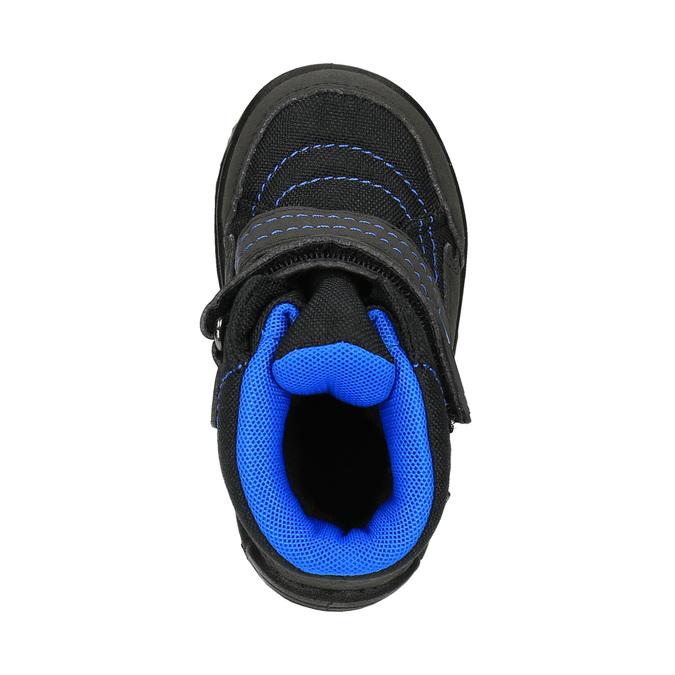 Dětská zimní obuv na suché zipy richter, černá, 129-6001 - 19