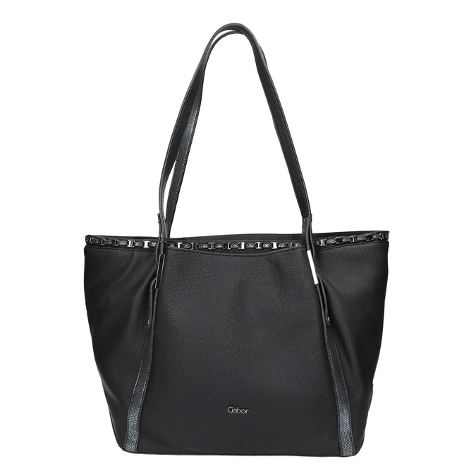 Dámská černá kabelka gabor-bags, černá, 961-6006 - 26