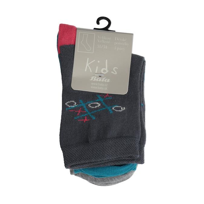 Dětské barevné ponožky 3 páry bata, 919-0593 - 13