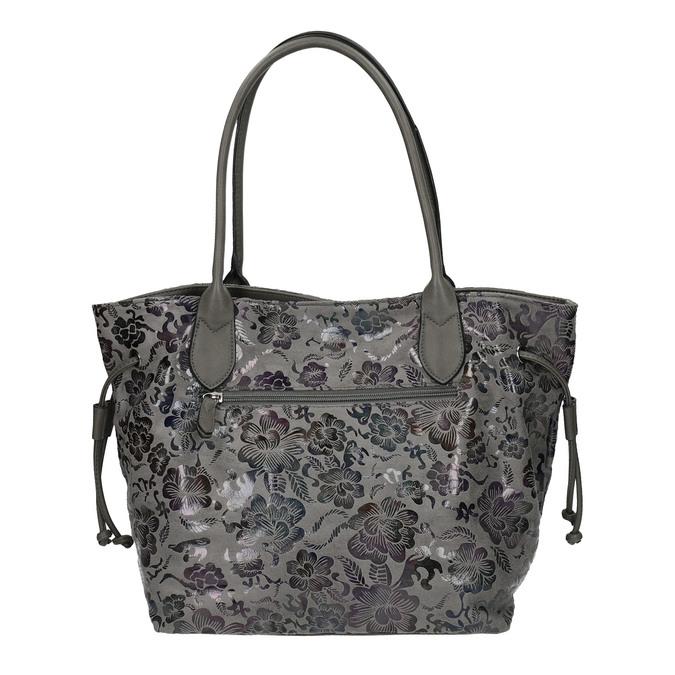 Dámská kabelka s květinovým vzorem gabor-bags, šedá, 961-2008 - 19