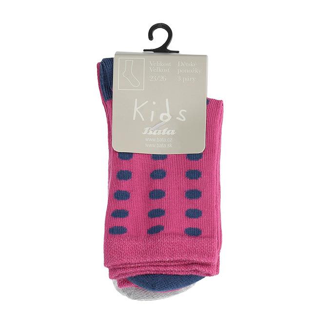 Dětské barevné ponožky 3 páry bata, 919-0490 - 13