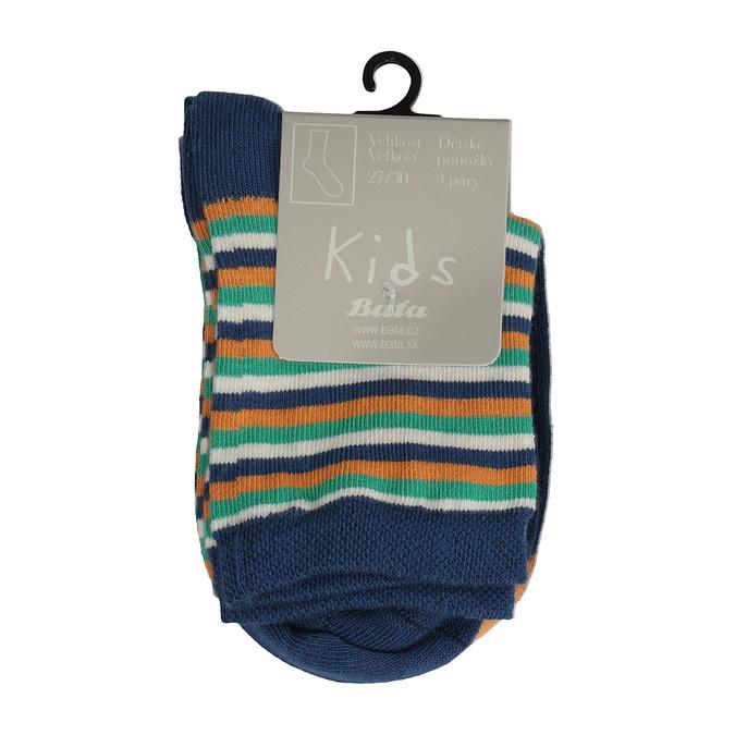 Dětské barevné ponožky 3 páry bata, 919-0591 - 13