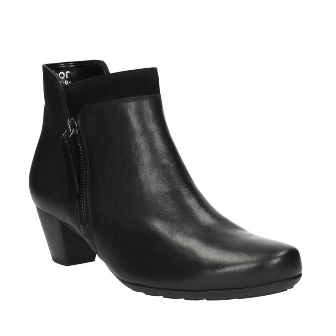 Dámská kotníčková obuv na podpatku gabor, černá, 614-6106 - 13