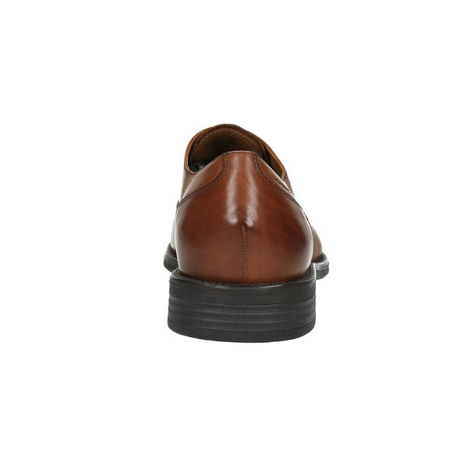 Pánské kožené polobotky vagabond, hnědá, 824-3003 - 17