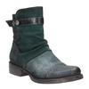 Kožená kotníčková obuv se stříbrnými detaily bata, tyrkysová, 596-9614 - 13