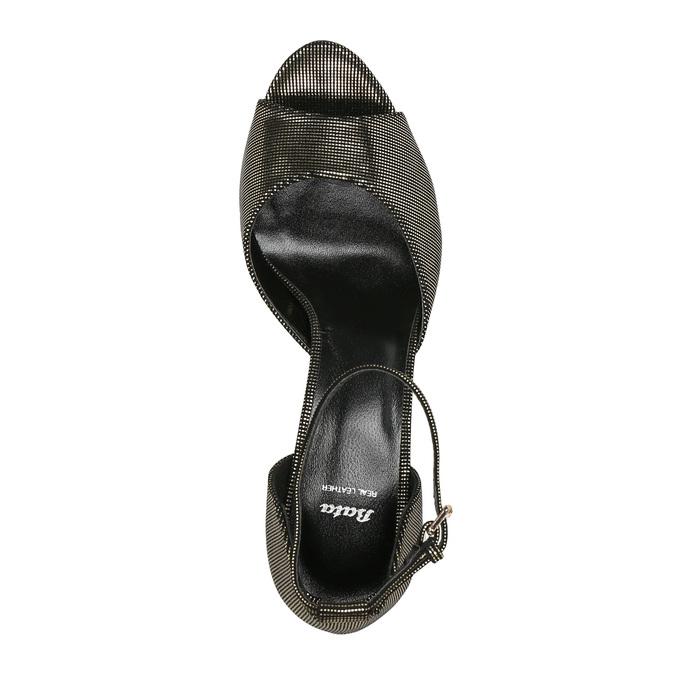 Sandály na jehlovém podpatku se zlatými odlesky bata, černá, 729-8630 - 19