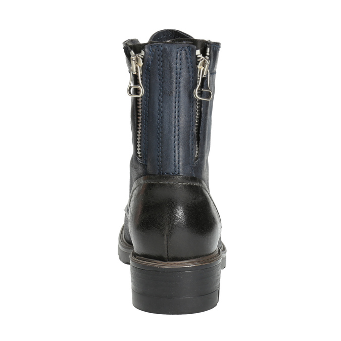 Kožená kotníčková obuv modrá bata, modrá, 596-9616 - 17