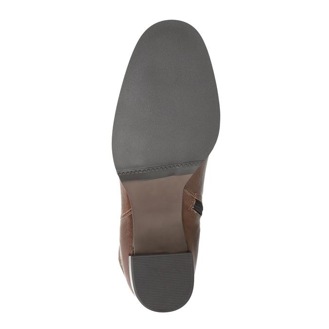 Kožené kozačky na masivním podpatku bata, hnědá, 796-4635 - 26