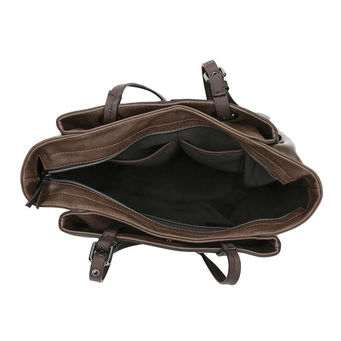 Hnědá dámská kabelka bata, šedá, 961-2123 - 15