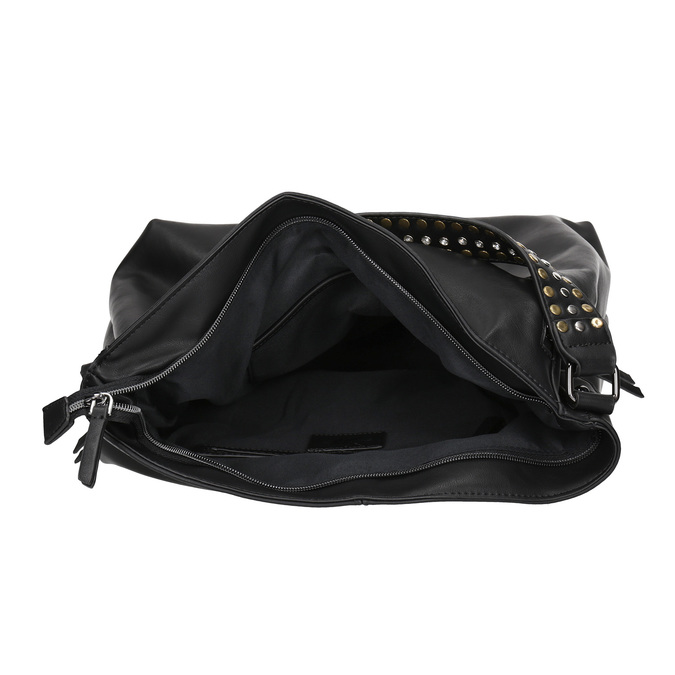 Dámská kabelka se zipy bata, černá, 961-6127 - 15