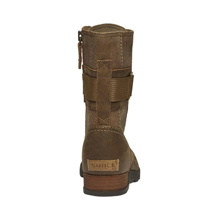 Kožená kotníčková obuv sorel, hnědá, 594-4039 - 17