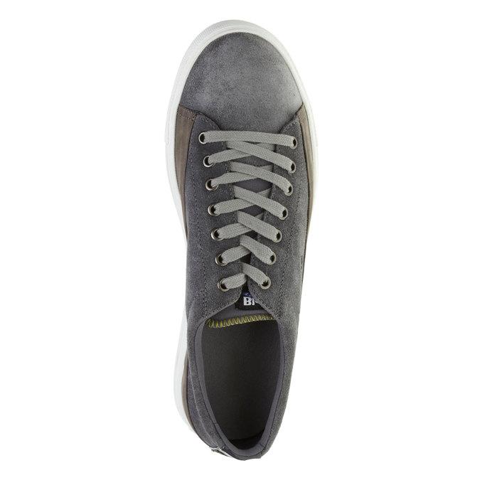 Kožené tenisky blauer, šedá, 843-2003 - 19