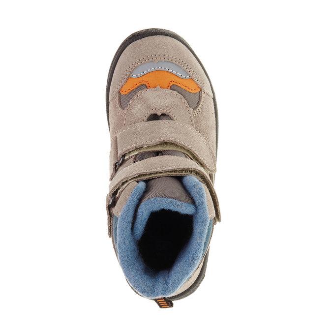 Kožené dětské boty mini-b, šedá, 293-2150 - 19