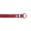 Kožený opasek s menší sponou wildskin, červená, 954-5013 - 26
