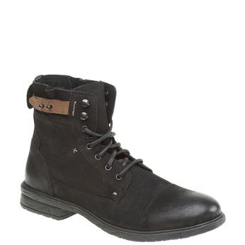 Kožené kotníkové boty bata, černá, 894-6165 - 13