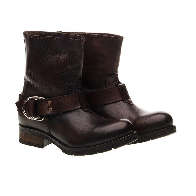 Kožená kotníčková obuv diesel, hnědá, 596-4108 - 26