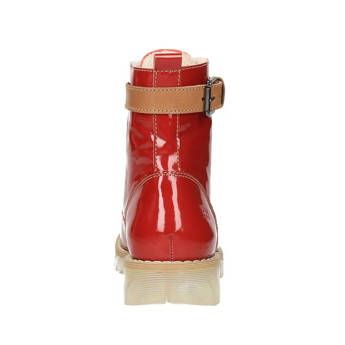 Kožená kotníčková obuv na průhledné podešvi weinbrenner, červená, 598-5602 - 17