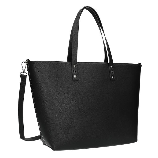 Shopper kabelka s pevným dnem bata, černá, 961-6647 - 13