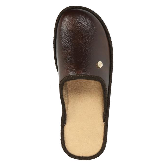 Pánská domácí obuv s uzavřenou špicí bata, hnědá, 871-4304 - 19