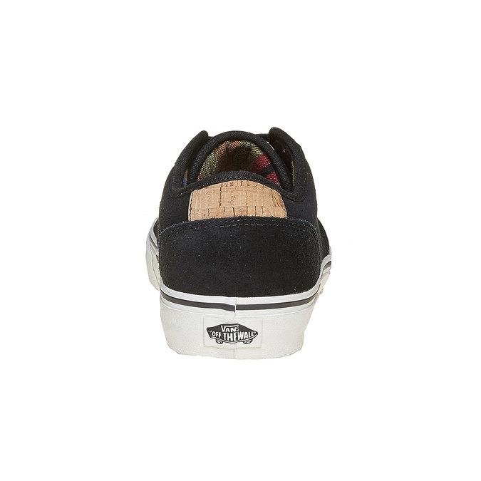 Pánské kožené tenisky černé vans, černá, 803-6304 - 17