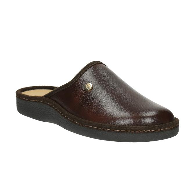 Pánská domácí obuv s uzavřenou špicí bata, hnědá, 871-4304 - 13