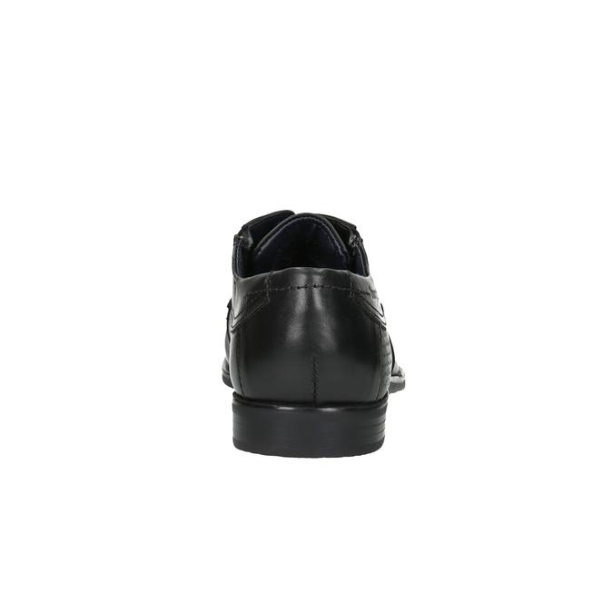 Pánské kožené polobotky bugatti, černá, 824-6013 - 17