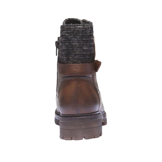 Kožené kotníkové boty bata, hnědá, 596-4104 - 17