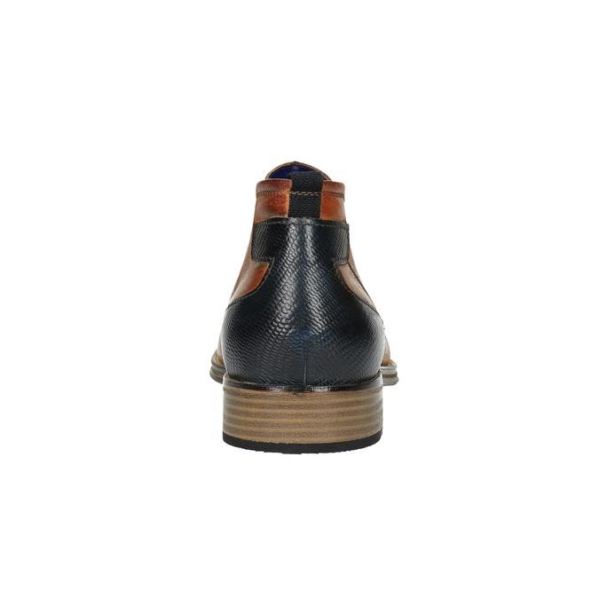 Kožená kotníčková obuv se zateplením bugatti, hnědá, 814-3003 - 17