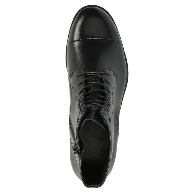 Kožená kotníčková obuv šněrovací vagabond, černá, 524-6006 - 19