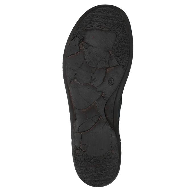Dámské kožené tenisky bata, modrá, 526-9601 - 26