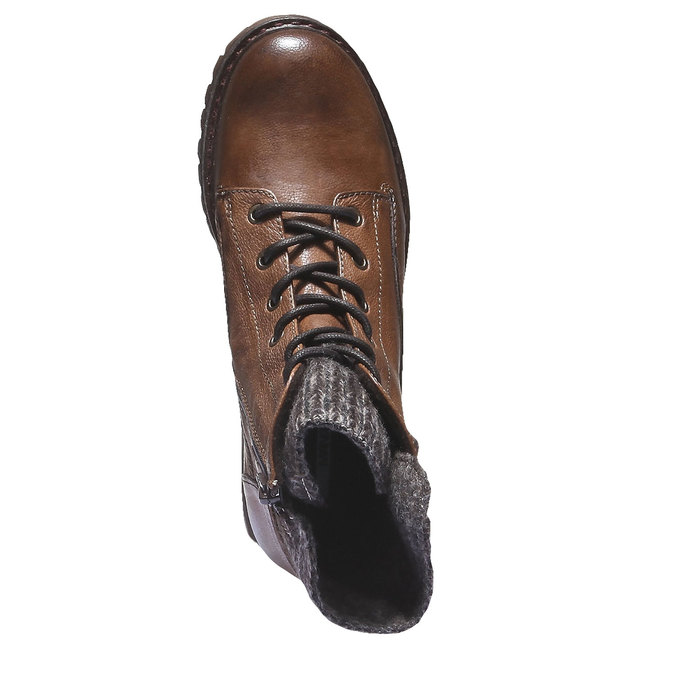 Kožené kotníkové boty bata, hnědá, 596-4104 - 19
