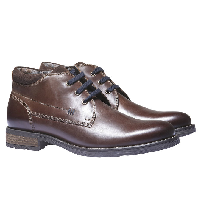 Ankle Boots bata, hnědá, 894-4661 - 26