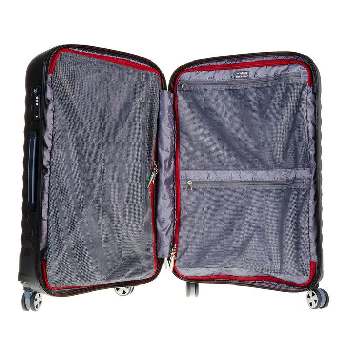 Černý cestovní kufr na kolečkách roncato, černá, 960-6601 - 15