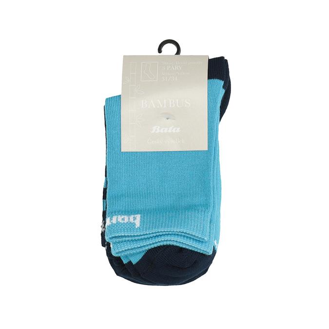 Sada 3 párů dětských bambusových ponožek bata, 919-0604 - 13