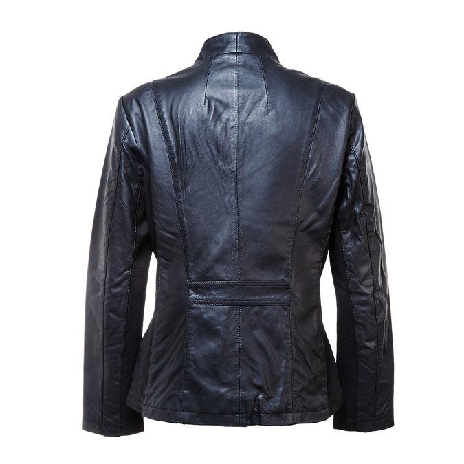Dámská kožená bunda bata, černá, 974-6174 - 26