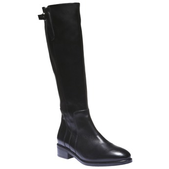 Kozačky na nízkém podpatku bata, černá, 594-6109 - 13