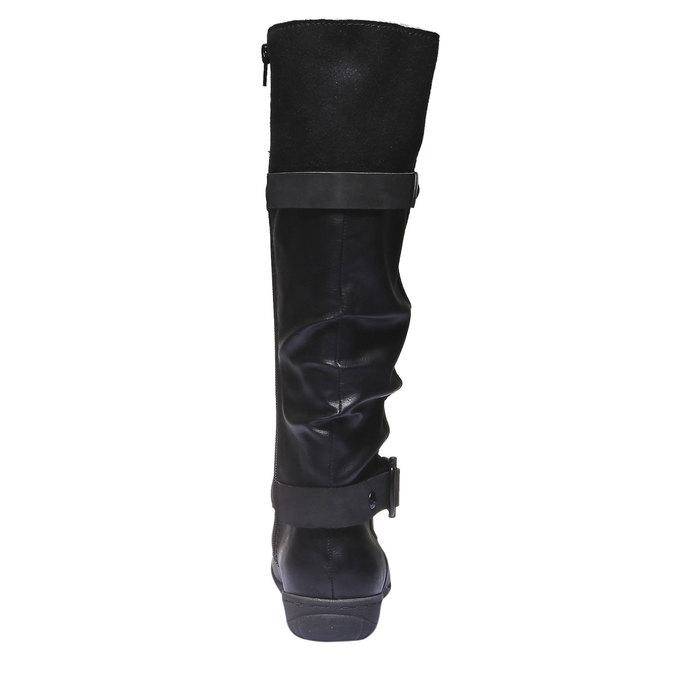 Dámské kozačky bata, černá, 591-6109 - 17