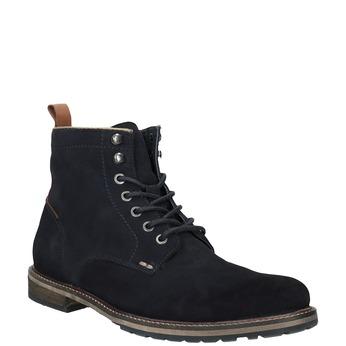 Kotníčková kožená obuv bata, modrá, 893-9651 - 13