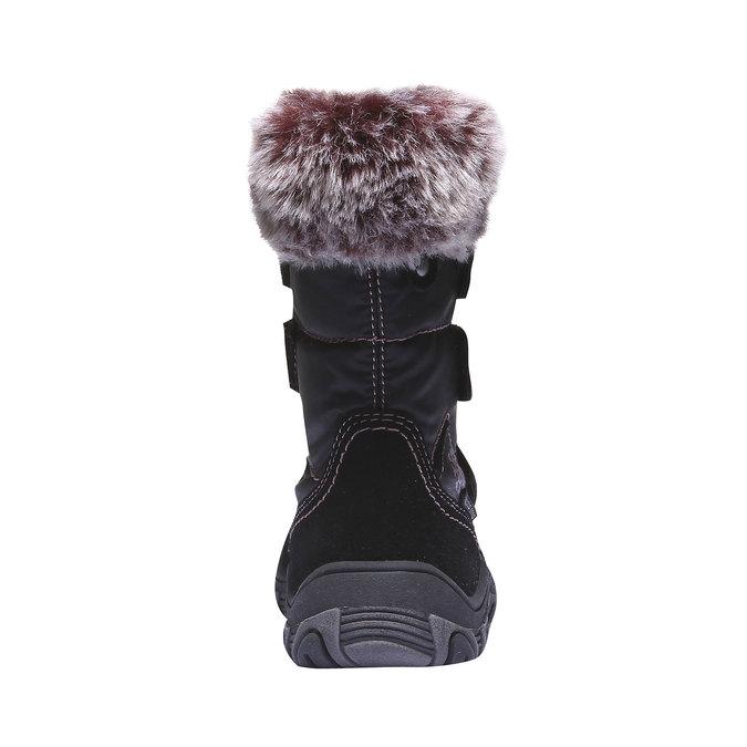 Kožené dětské sněhule s kožíškem mini-b, černá, 393-6100 - 17