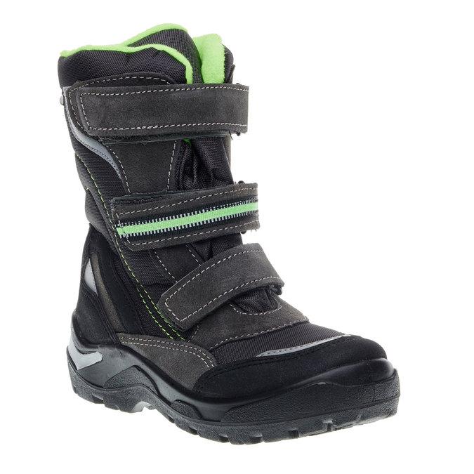Kožená zimní obuv mini-b, šedá, 499-2110 - 13
