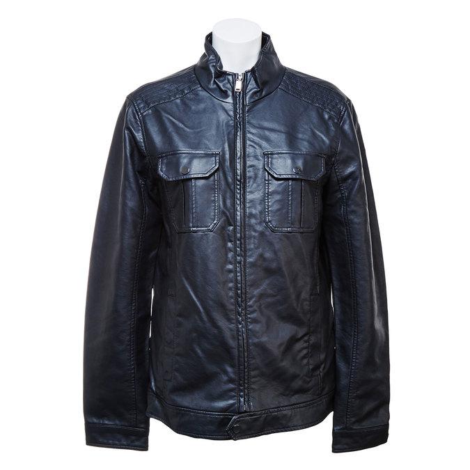 Pánská bunda s náprsními kapsami bata, černá, 971-6169 - 13