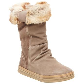 Kožená kotníčková obuv bata, béžová, 593-2104 - 13