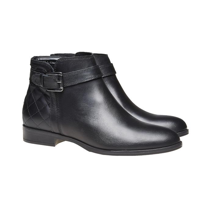 Kožená kotníčková obuv bata, černá, 594-6167 - 26