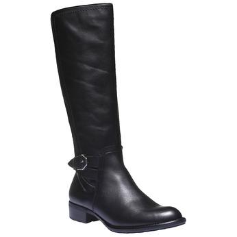Kožené kozačky s přezkou bata, černá, 594-6115 - 13