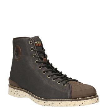 Pánská zimní obuv na výrazné podešvi napapijri, hnědá, 899-4002 - 13