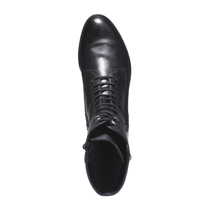 Kožená kotníčková obuv s prošitím bata, černá, 594-6160 - 19