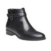 Kožená kotníčková obuv bata, černá, 594-6167 - 13