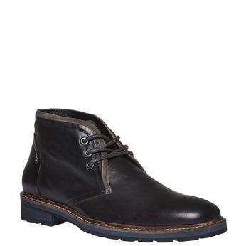Kožené boty v Chukka stylu bata, černá, 894-6126 - 13